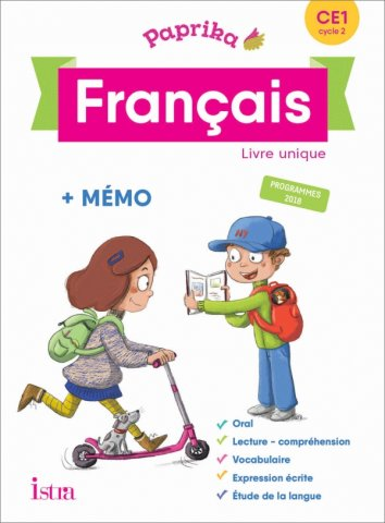 Paprika Francais Ce1 Edition France Livre Eleve Ed 2019 Editions Istra